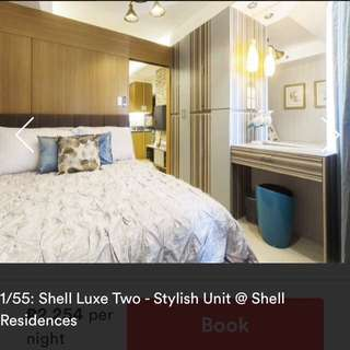 Staycation at Shell Luxe Two (near SM Mall of Asia)