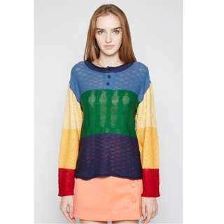 (SIZE L) Long Sleeved Coloured Top