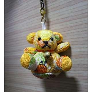日本帶回 黃色小熊吊飾