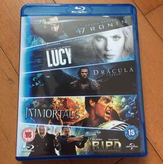 47 Ronin/ Lucy/ Dracula/ Immortals/ RIPD bluray