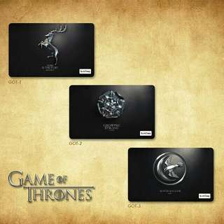 Custom E-money Flazz dan Brizzi card design Game of Thrones 1