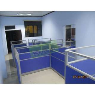BLUE FABRIC OFFICE PARTITIONS--KHOMI