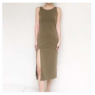 Dress with Front Slit