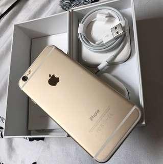 Iphone6 Gold金16GB包全新配件及mon貼