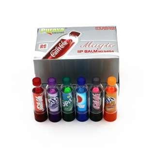 CREATIVE VALENTINES GIFT FOR GF!!! 6pcs/set Fantastic Coke Bottle Color Change Makeup Lipstick Long Lasting Hydrating Lip Gloss Girl's Gift