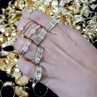 18K SAUDI GOLD RINGS