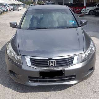 SAMBUNG BAYAR/CONTINUE LOAN  HONDA ACCORD 2.0 AUTO YEAR 2008 MONTHLY RM 900 BALANCE 6 YEARS ROADTAX JUNE 2018 LEATHER SEAT TIPTOP CONDITION  DP KLIK wasap.my/60133524312/accord