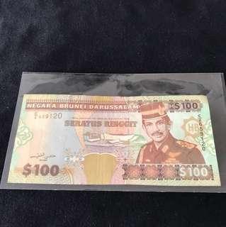 1996 Brunei $100