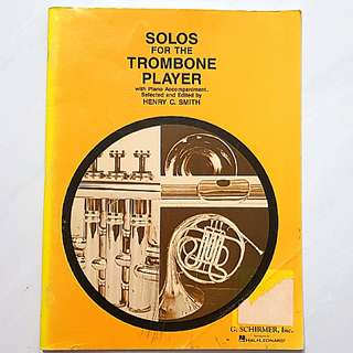 Solos for the Trombone Player with Piano accompaniment Music Score