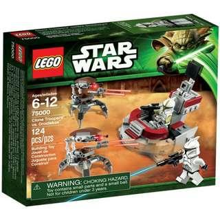 全新Lego 75000 Starwars clone trooper vs droidekas