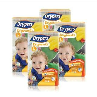 Drypers Drypantz L36 4 packs