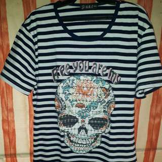 Stripes with skull shirt #sweldosale3