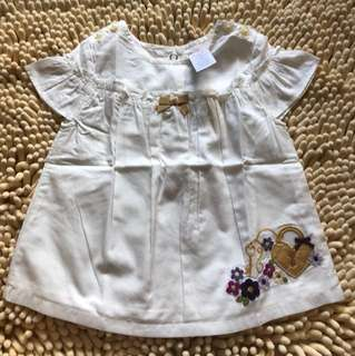 Authentic brand new cut off label Gymboree baby TOP 6mths up to 24mths