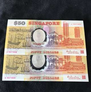 Commemorative $50 Polymer With 2 Run