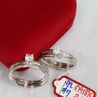 18K Saudi White gold ring