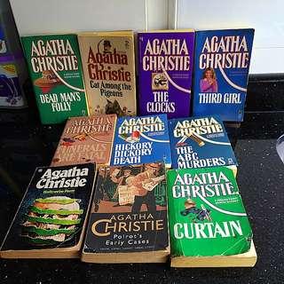 Agatha Christie murder books...Poirot...Miss Marple etc