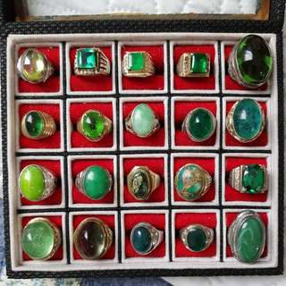 Antique precious stones rings