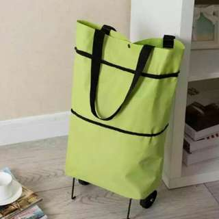 Yellow Green Collapsable roller bag