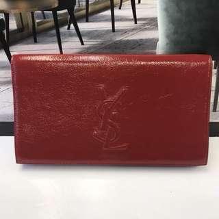全新 Yves Saint Laurent Patent Leather Clutch