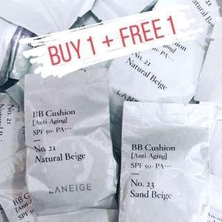 Laneige BB Cushion Anti-Aging SPF 50+ PA+++ 15g*2 Refill