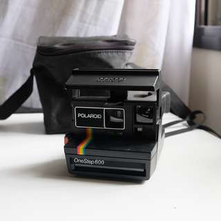Polaroid Rainbow One Step 600 Land Camera Instamatic Black