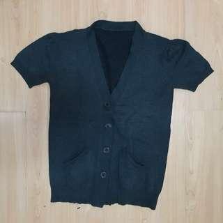 Dark Gray Cardigan with pockets