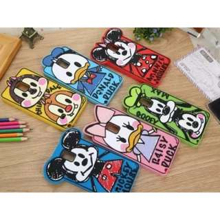 NEW Design Disney Cartoon Characters HP Phone Cover Case Casing Mickey Minnie Mouse Donald Daisy Duck Chip & Dale Goofy (Apple IPhone 4/4S, 5/5S, 6/6S 6/6S Plus Samsung S4 S5 S6 & Edge Note 2 3 4 5 A3 A5 A7 A8 Grand Prime Sony Xperia M4 Z4 C5 Xiaomi Redmi
