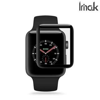Apple Watch 42mm 專用IMAK 3D曲面全屏鋼化玻璃膜 屏幕防爆保護貼Glass 0046A