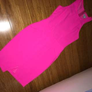 Fluro Pink Going Out Dress