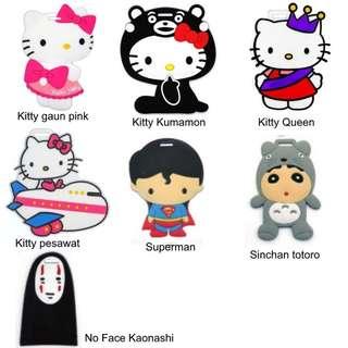 Tag koper/luggage tag hello kitty dan karakter lainny
