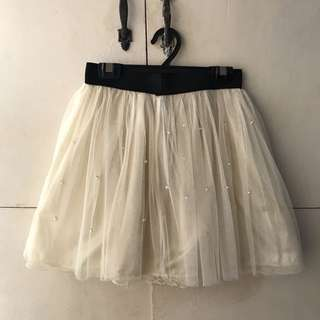 Tutu Skirt with Pearls