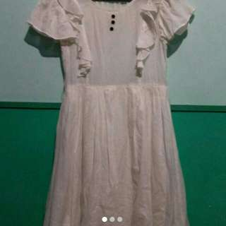 ZARA broken white Dress