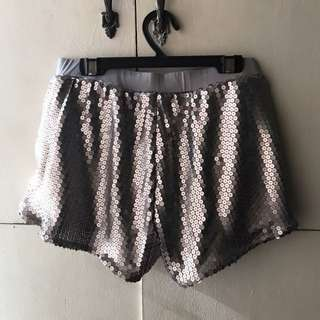 Cotton On Silver Sequin Shorts