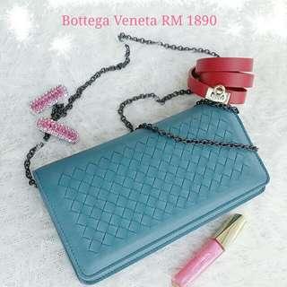 🎈Bottega Veneta Continental Wallet on chain/Clutch /shoulder bag  445153🎈