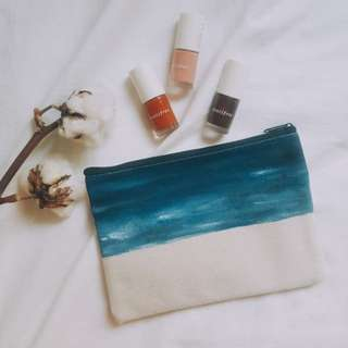Dalis Hand Painted Zipper Pouch