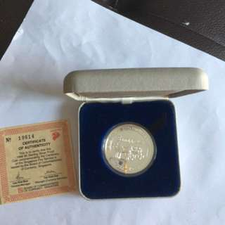 1988 Centenary of the S Fire Service $5 Silver Proof