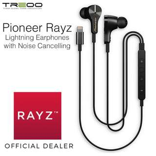 Pioneer Rayz Lightning Earphones with Active Noise Cancelling