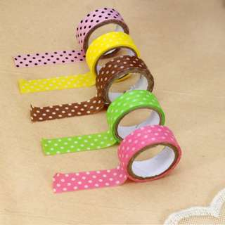 Candy Dots Color Masking Tape Label Tape Washi Tape Sticker
