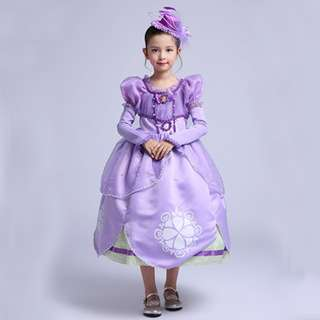 Newest Princess Sofia Costume Dress
