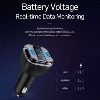 Car Dual USB Charger + GPS locator + Voltmeter / Volt / Voltage meter