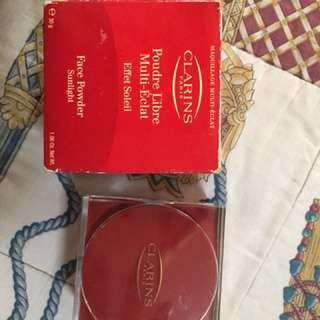 Clarins Face Powder ( shimmery effect)