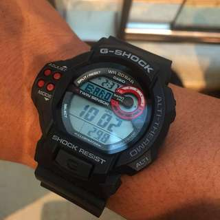 G-shock Altimeter Barometer Thermometer GDF-100 Rare! Condition 9.9/10. With Gshock Japan Box.