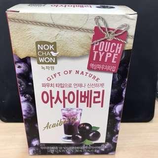 韓國即飲便攜巴西莓汁Acaiberry5包裝 (NOKCHAWON)
