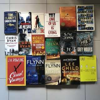 Books - Thrillers & Novels