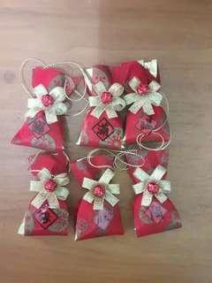 福袋吊飾金蔥(6入紅)