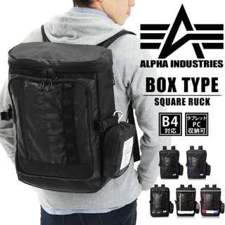 日本 Alpha Industries 黑色 18L 可拆小袋 防潑水軍用背囊