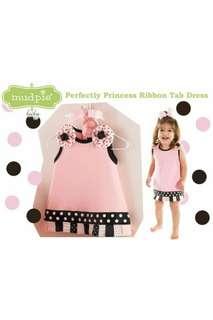 PRINCESS RIBBON TAB SLEEVELESS DRESS - PINK