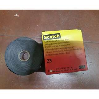 """3M Polyester Splicing Tape, Rubber Tape Adhesive, 30.00 mil Thick, 2"""" X 30 ft., Black, 1 EA"""