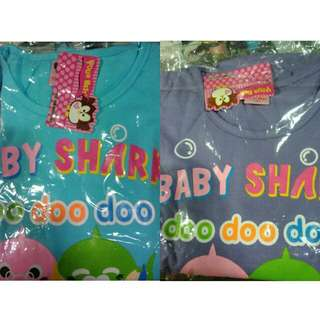 Baby Shark T-shirt and Pants Set for Girls