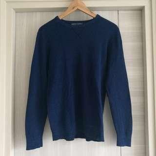 GIORDANO Blue Cotton Sweater